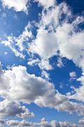 Moody blue sky - stock photo
