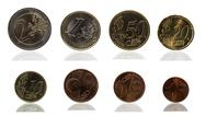 Euro and Cent series Stock Photos