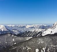 European alps in winter Stock Photos