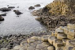 Early evening at Giant's Causeway - stock photo
