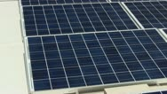 Stock Video Footage of Solar Panels on rooftop