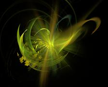 abstract fractal art space twirl explosion object - stock illustration