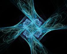 abstract fractal art space twirl diamond object - stock illustration