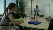 Business meeting applause Stock Footage
