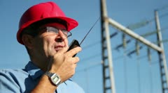 Electrical Engineer At Work Stock Footage