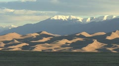 Colorado Great Sand Dunes zoom out Stock Footage