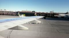 Airplane maneuvring Stock Footage