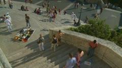 Salesmen, Sailors, & Tourists - Spanish Steps Stock Footage