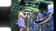 Stock Video Footage of Baby's FIRST BIRTHDAY 1st PARTY Cake Candle 1950s (Vintage Film Home Movie) 5149