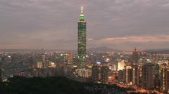 Stock Video Footage of Taipei 101 tower timelapse
