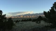 Colorado Great Sand Dunes dark and light Stock Footage