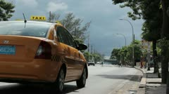 Taxi Stock Footage