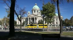 Parliament in Belgrade, Serbia Stock Footage