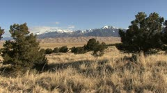 Colorado Great Sand Dunes with grasses Stock Footage