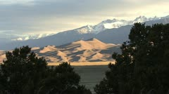 Colorado Great Sand Dunes with shadows Stock Footage