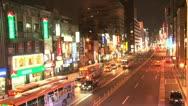 Stock Video Footage of Taipei downtown traffic