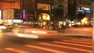 Stock Video Footage of Taipei downtown traffic evening
