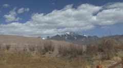 Colorado Great Sand Dunes view 1 Stock Footage