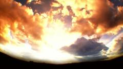 Sunset Cloud Time Lapse  1 Stock Footage