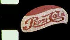 PEPSI Sign TIMES SQUARE NYC Night 1953 (Vintage 8mm Home Movie Footage) 5157 Stock Footage