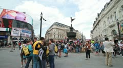 London 1080p Piccadilly Circus Timelapse - stock footage