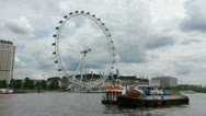 Stock Video Footage of The London Eye 1080p Thames  Giant Ferris wheel Timelapse