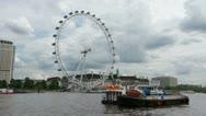 The London Eye 1080p Thames  Giant Ferris wheel Timelapse Stock Footage