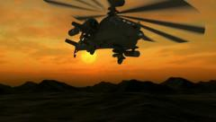 Stock Video Footage of Apache at Dawn