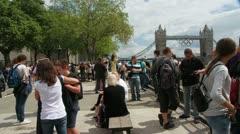 London 1080p Tower Bridge and Park timelapse olympics - stock footage