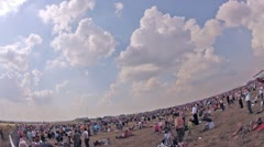 VVS planes fly over spectators on air show Stock Footage