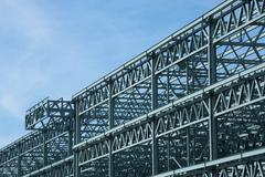 steel construction frame - stock photo