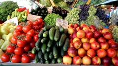 Vegetables and fruits Stock Footage