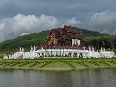 royal pavilion - stock photo
