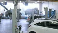 Stock Video Footage of Cars stand in service center of Automobile Dealership Automir