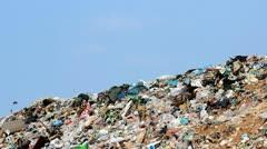 Skies and garbage Stock Footage