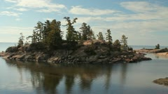 Panorama of Georgian Bay - stock footage