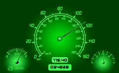 Car gauges Stock Illustration