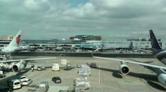 Frankfurt International Airport Germany Stock Footage