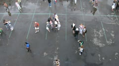 Young people walk on street at festival Day of Japan Stock Footage