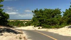 Bike path Provincetown Cape Cod; 2 Stock Footage