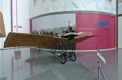 demoiselle replica airplane invented by santos dumont - stock photo
