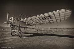 bleriot areoplane replica - stock photo