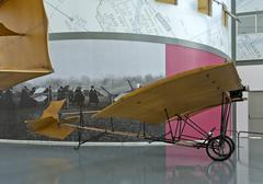 demoiselle - full size replica of airplane invented by santos dumont - stock photo