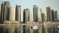 Beautyful Architecture in Dubai Marina Stock Footage