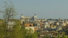 Rome landscape view (ideal for titles) 3 Stock Footage