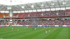 Teams  meet in Egor Titov farewell match - stock footage