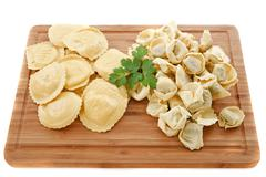 ravioli and tortellini - stock photo