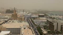 Spiral Mosque, Qatar, Doha Corniche, Souq Waqif, Old Marketplace, Amiri Diwan Stock Footage
