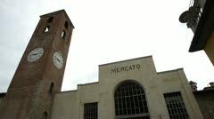 Lucca mercato Stock Footage