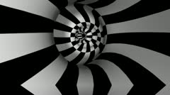 Spiral-Tunnel BW Stock Footage